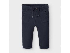 Kalhoty elastické s tkaničkou tmavě modré BABY Mayoral