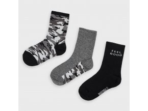 3 pack ponožek Army černé MINI Mayoral