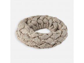 Nákrčník pletený vzor béžovo-zlatý MINI Mayoral
