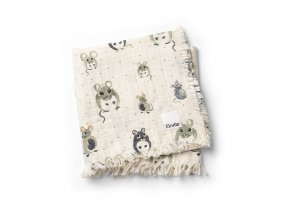 soft cotton blanket forest mouse elodie details 70360116587NA 1