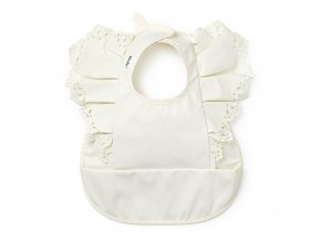 baby bib vanilla white elodie details 30400159102NA