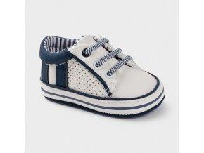Tenisky kojenecké modro-bílé NEWBORN Mayoral
