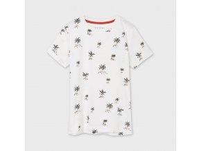 Tričko s krátkým rukávem palmičky smetanové JUNIOR Mayoral