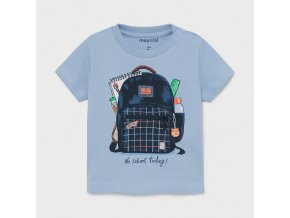 Triko s krátkým rukávem batoh světle modré BABY Mayoral