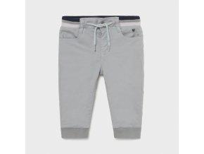 Kalhoty natahovací elastické světle šedé BABY Mayoral