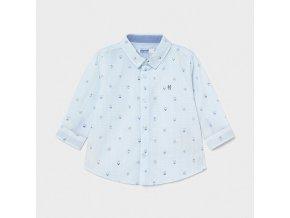 Košile s dlouhým rukávem pejsci kapitáni světle modrá BABY Mayoral