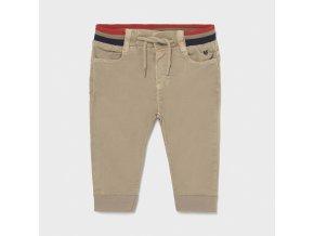 Kalhoty natahovací plátěné béžové BABY Mayoral