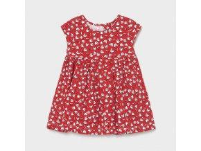 Šaty bavlněné se srdíčky červené BABY Mayoral