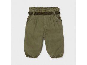 Kalhoty viskózové s páskem khaki BABY Mayoral