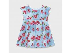 Šaty s květinkami světle modré BABY Mayoral