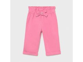 Kalhoty s nižším sedem tmavě růžové BABY Mayoral