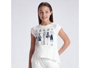 Tričko s krátkým rukávem modelky bílo-modré JUNIOR Mayoral