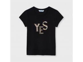 Tričko s krátkým rukávem YES basic černé JUNIOR Mayoral