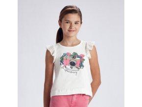 Tričko s krátkým rukávem foťák růžový JUNIOR Mayoral