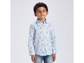 Košile s dlouhým rukávem plachetnice světle modrá MINI Mayoral