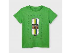 Tričko s krátkým rukávem FEELING ALIVE zelené MINI Mayoral