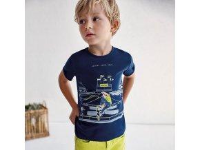 Tričko s krátkým rukávem SKATING tmavě modré MINI Mayoral