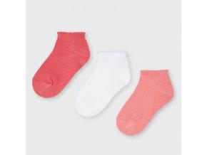 3 pack nízkých ponožek meruňkové MINI Mayoral
