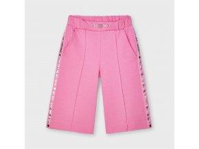 Kalhoty culotte s lampasy růžové MINI Mayoral