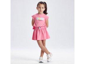 Šaty bavlněné CHOOSE růžové MINI Mayoral