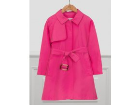 Kabát / trenčkot s páskem tmavě růžový Abel & Lula