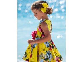 Šaty s páskem divoké kvítí žluté Abel & Lula