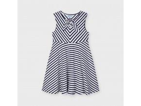 Šaty s uzlíkem pruh modro-bílé MINI Mayoral