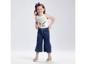 Kalhoty culotte riflové tmavě modré MINI Mayoral