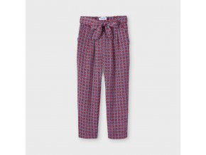 Kalhoty odlehčené s páskem a vzorem červené MINI Mayoral