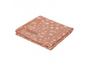 0012548 little dutch swaddle doek 120 x 120 wild flowers rust wild flowers 1