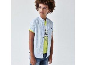 Košile s límcem a krátkým rukávem modrá MINI Mayoral