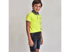 Triko polo s krátkým rukávem neon žluto-zelené JUNIOR Mayoral