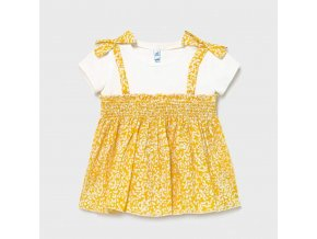 1178 Mayoral Girls Mustard Mixed Blouse Front