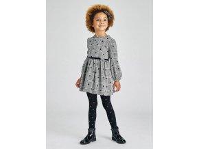 Šaty s dlouhým rukávem a puntíky černé MINI Mayoral