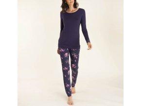 Dámské pyžamo dlouhý rukáv květy Extreme Intimo