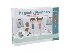 0012894 little dutch magnetisch speelbord rosa en jim andere 0