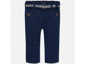 Kalhoty plátěné tmavě modré s páskem BABY Mayoral