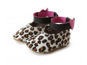 Kožené capáčky leopardí STARCHILDSHOES