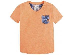 Tričko s krátkým rukávem a kapsičkou neon MINI Mayoral