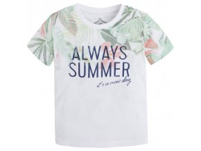 Tričko s krátkým rukávem ALWAYS SUMMER bílé MINI Mayoral