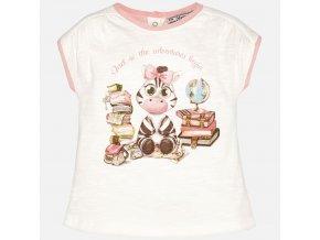 Tričko s krátkým rukávem zebra smetanové BABY Mayroal