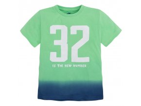 Tričko s krátkým rukávem 32 zeleno-modré ombré MINI Mayoral
