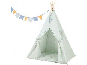 tipi tent mint met speelmat en slinger little dutch 600x600