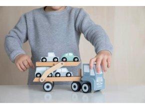 little dutch houten truck oplegger autootjes