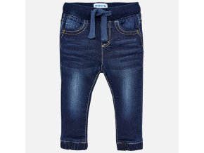 Kalhoty riflové do gumy tmavě modré BABY Mayoral
