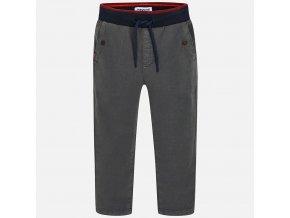 Kalhoty s gumou v pase šedé MINI Mayoral