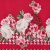 Šaty s volánovitým rukávem květiny červené JUNIOR Mayoral