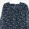 Šaty s dlouhým rukávem šifónové květiny zelené JUNIOR Mayoral