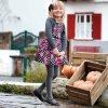 Šaty s páskem květiny černo-růžové MINI Mayoral