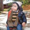 Bunda přechodová modro-červená BABY Maoral